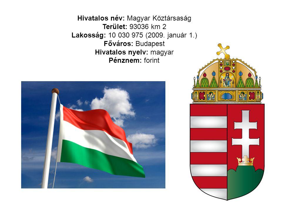 Hivatalos név: Magyar Köztársaság Terület: 93036 km 2