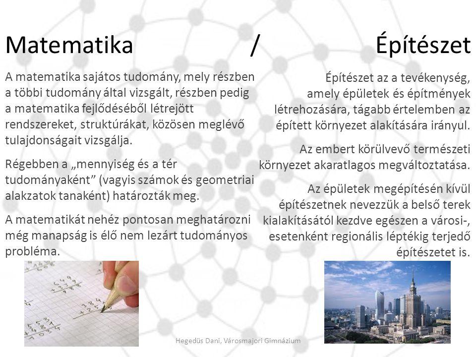Matematika / Építészet