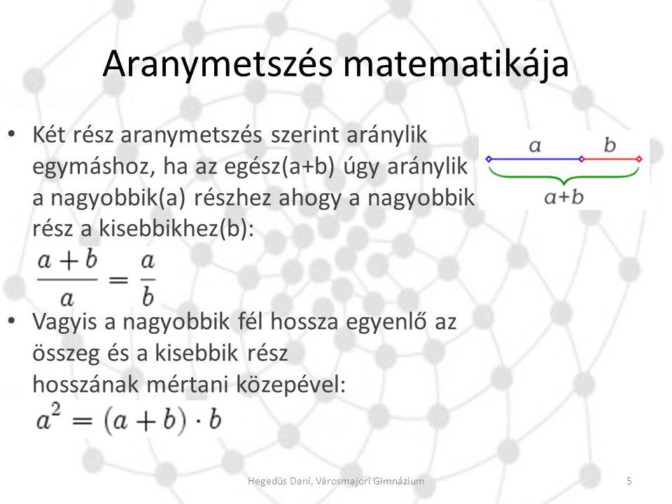 Aranymetszés matematikája