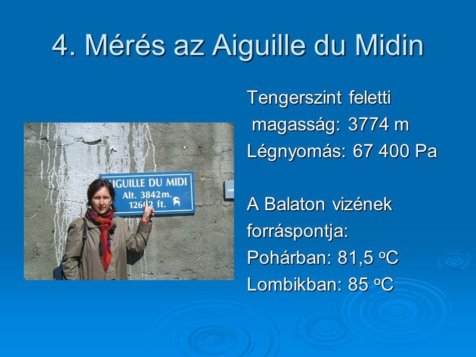 4. Mérés az Aiguille du Midin