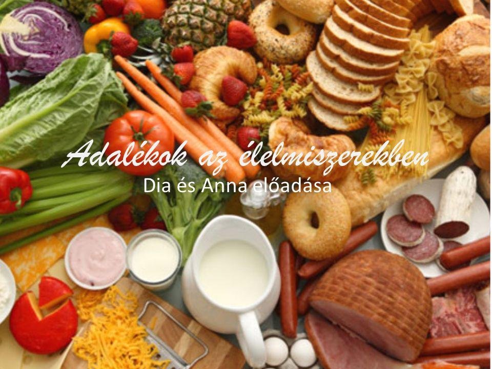 Adalékok az élelmiszerekben