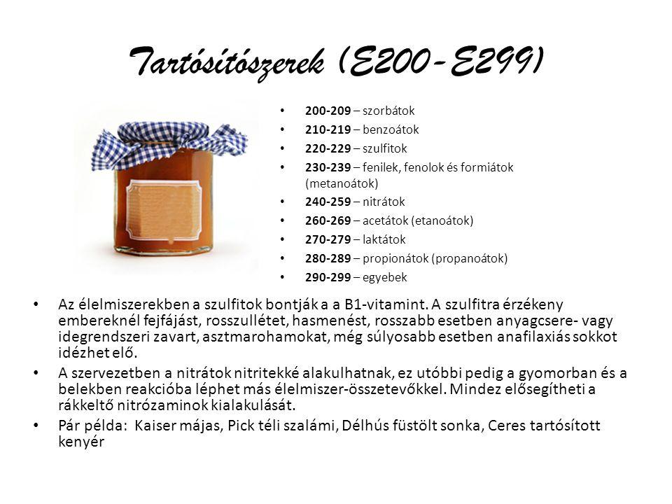 Tartósítószerek (E200-E299)