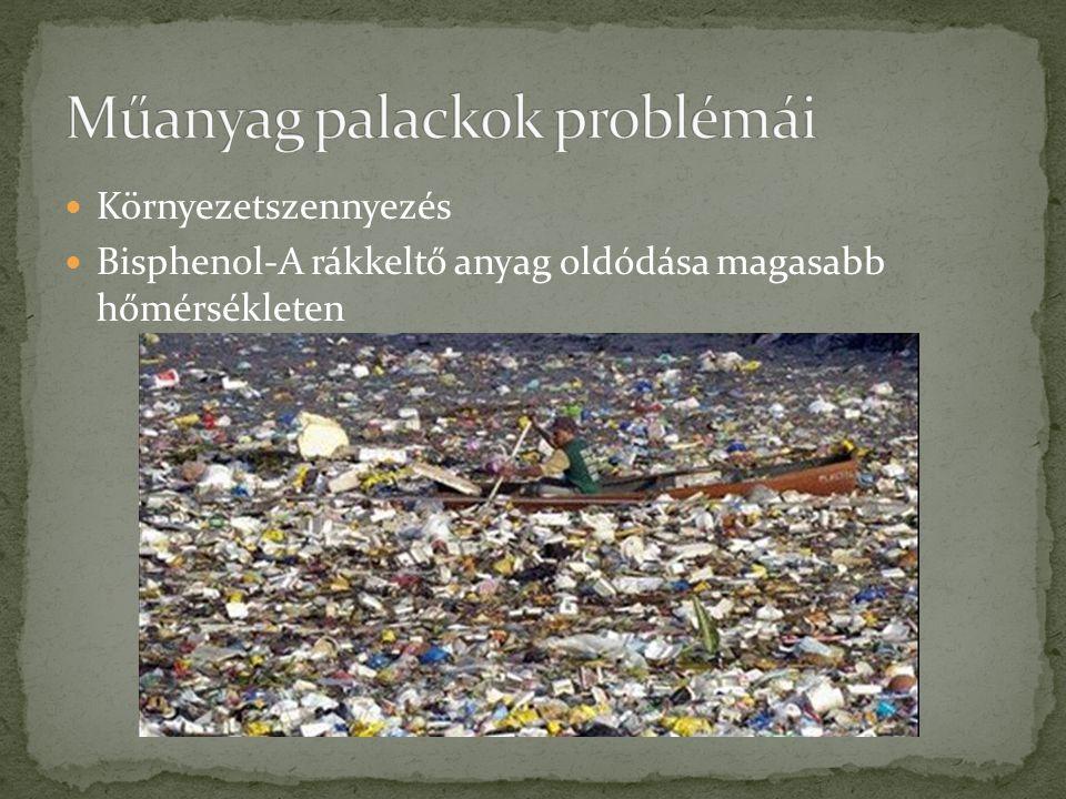 Műanyag palackok problémái