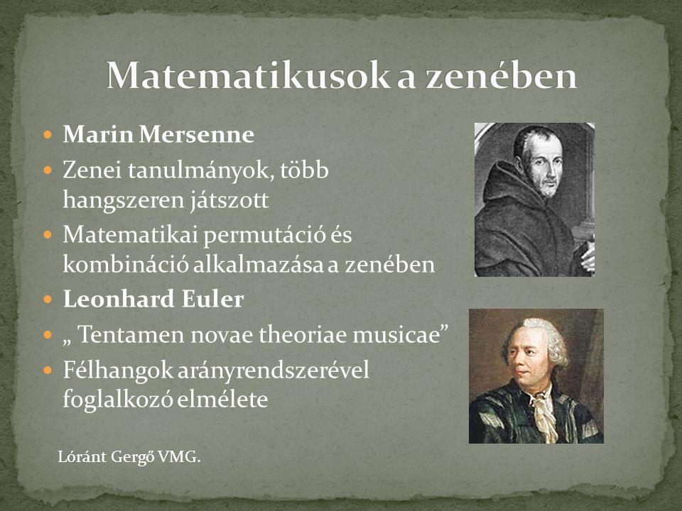 Matematikusok a zenében