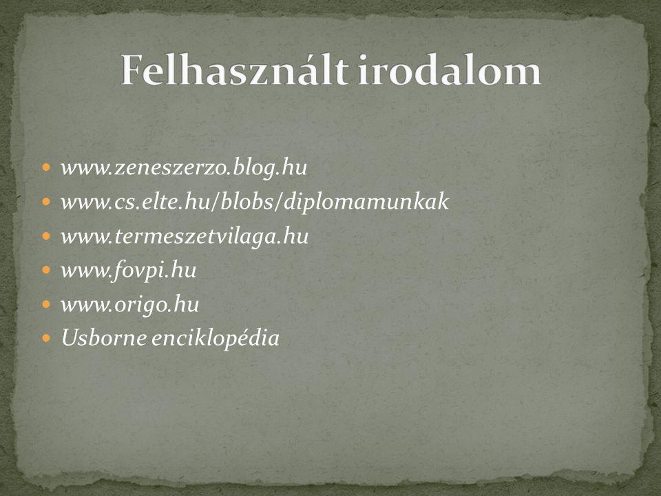 Felhasznált irodalom www.zeneszerzo.blog.hu