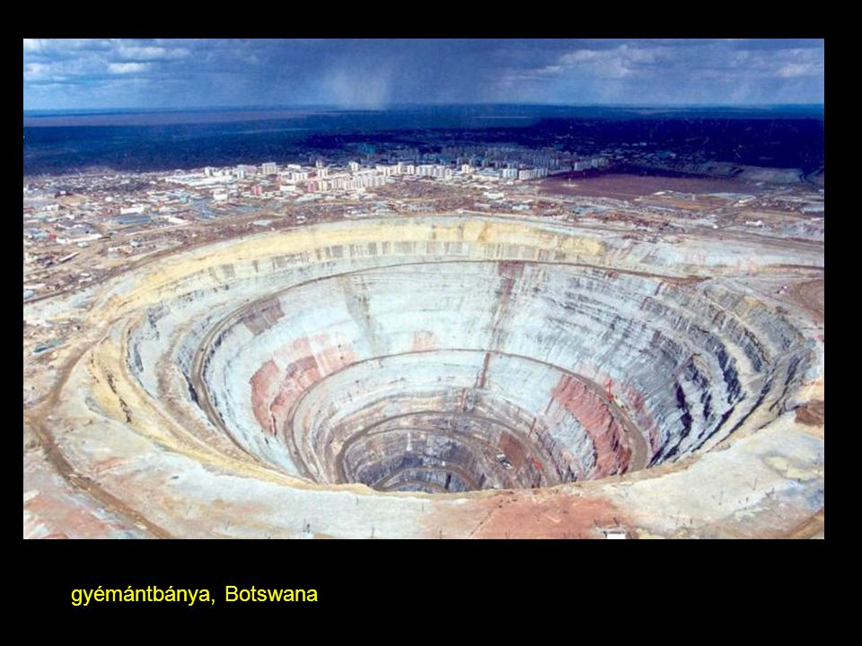 gyémántbánya, Botswana