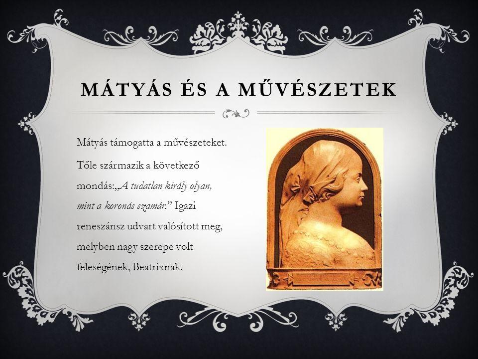 Mátyás és a művészetek