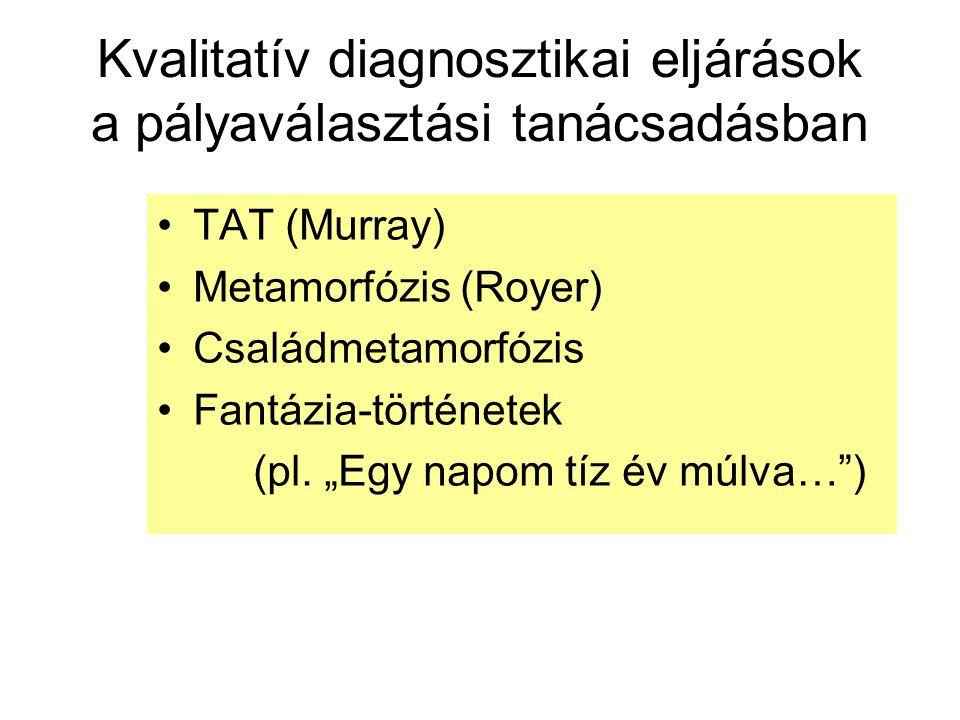Kvalitatív diagnosztikai eljárások a pályaválasztási tanácsadásban