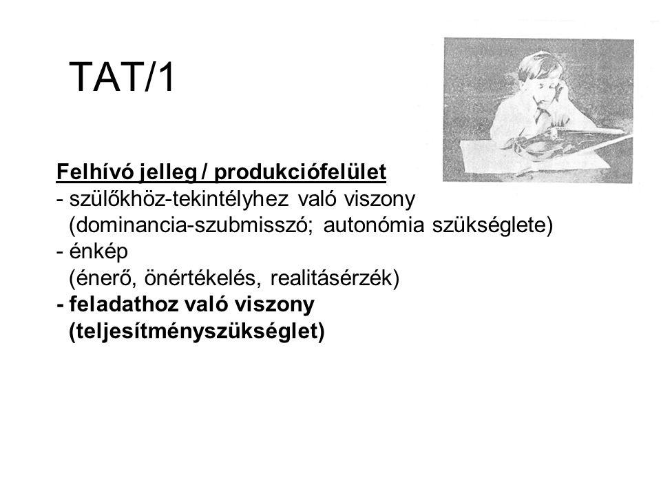 TAT/1 Felhívó jelleg / produkciófelület
