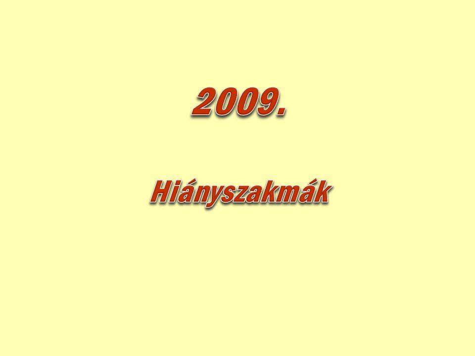 2009. Hiányszakmák