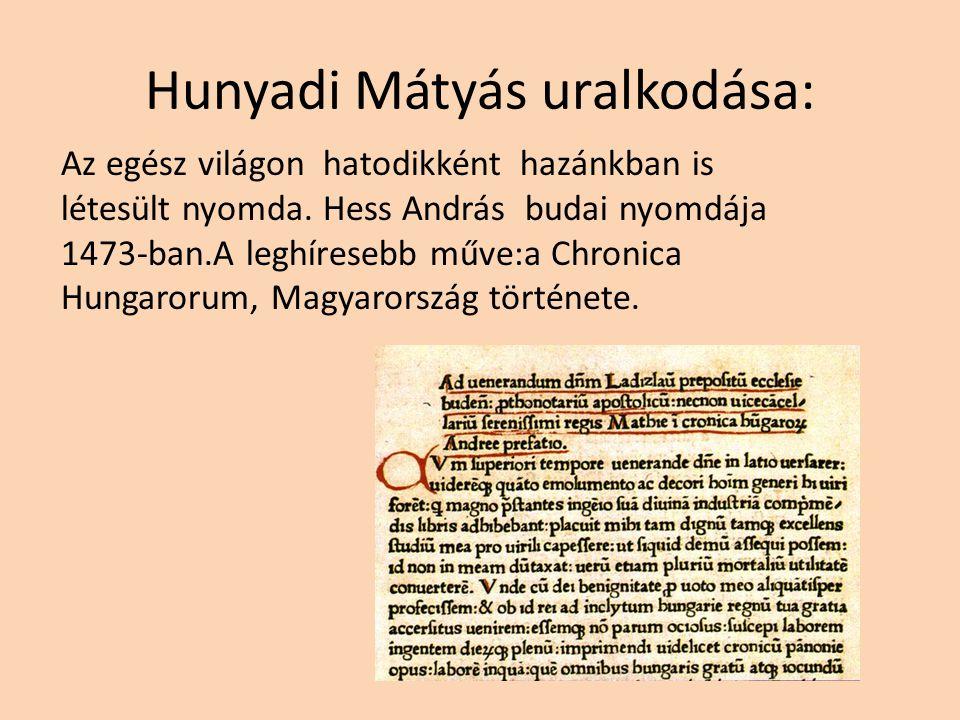 Hunyadi Mátyás uralkodása: