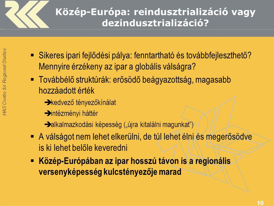 Közép-Európa: reindusztrializáció vagy dezindusztrializáció