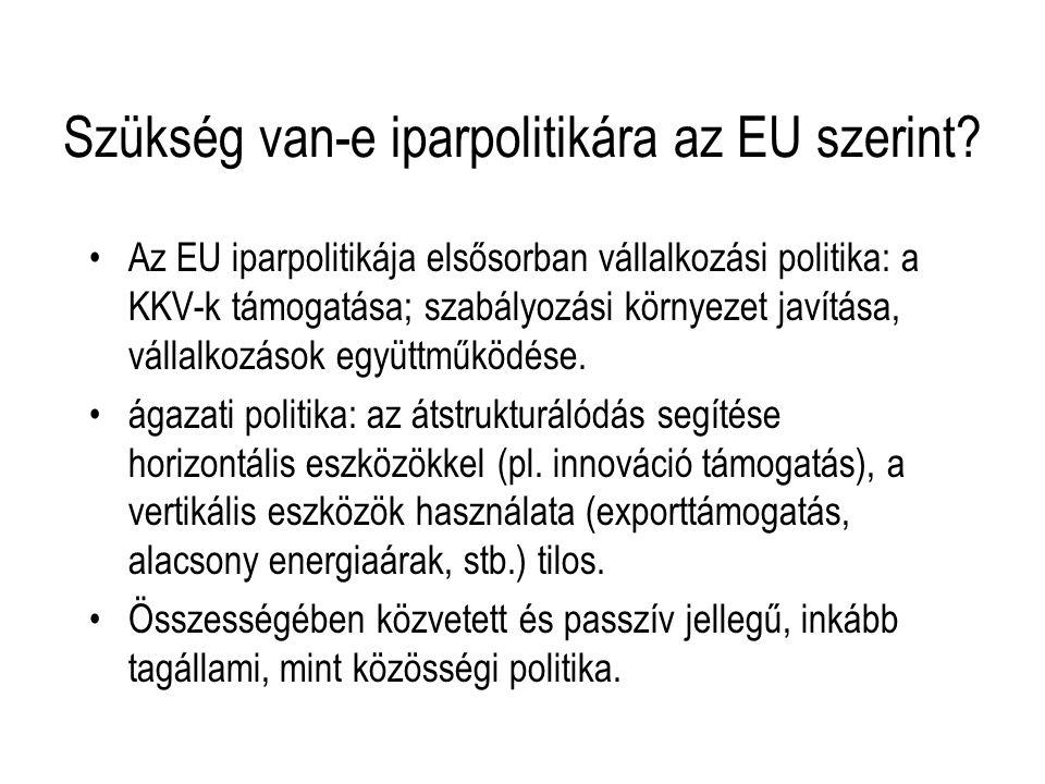 Szükség van-e iparpolitikára az EU szerint