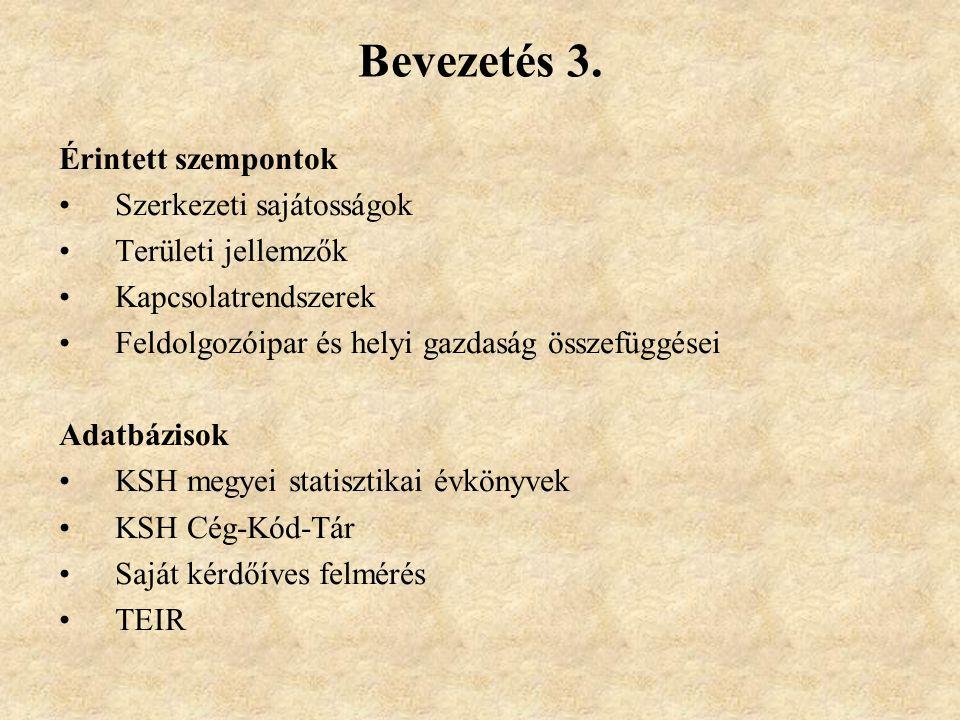 Bevezetés 3. Érintett szempontok Szerkezeti sajátosságok