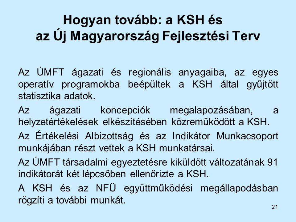 Hogyan tovább: a KSH és az Új Magyarország Fejlesztési Terv