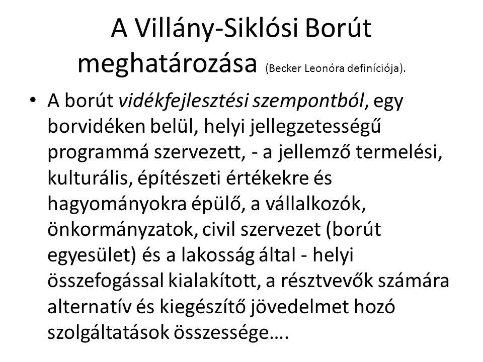 A Villány-Siklósi Borút meghatározása (Becker Leonóra definíciója).