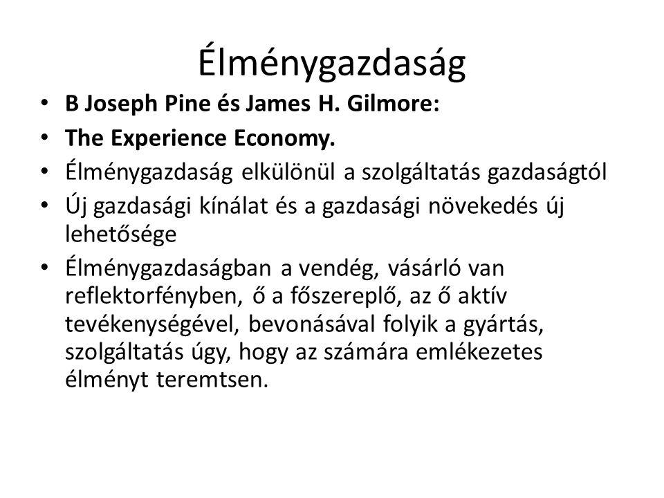 Élménygazdaság B Joseph Pine és James H. Gilmore: