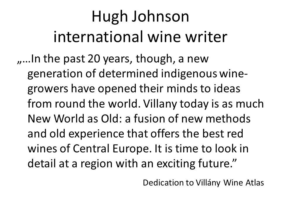 Hugh Johnson international wine writer