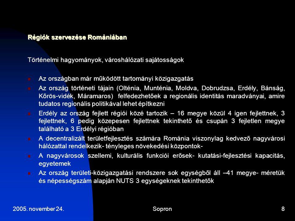 Régiók szervezése Romániában