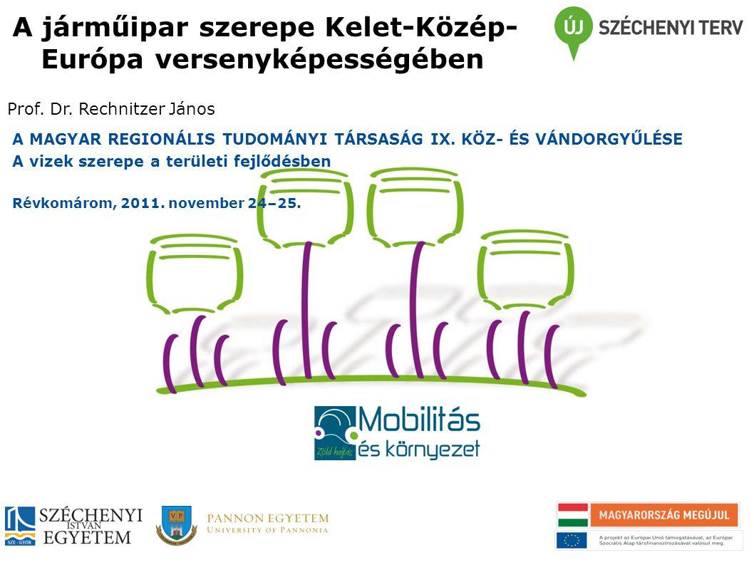 A járműipar szerepe Kelet-Közép-Európa versenyképességében
