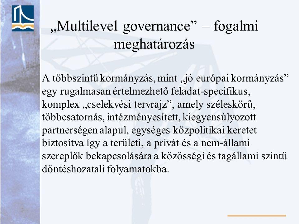 """""""Multilevel governance – fogalmi meghatározás"""