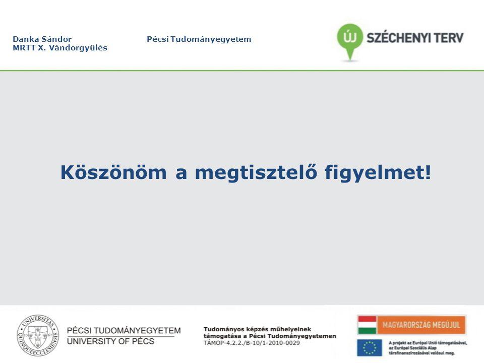 Danka Sándor Pécsi Tudományegyetem MRTT X. Vándorgyűlés