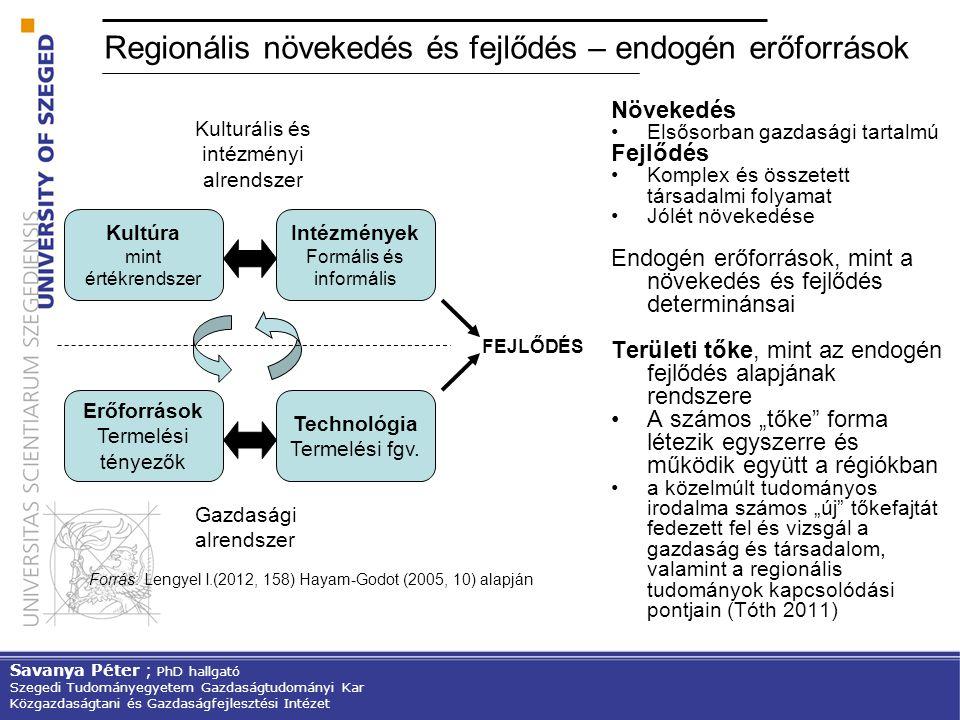 Regionális növekedés és fejlődés – endogén erőforrások