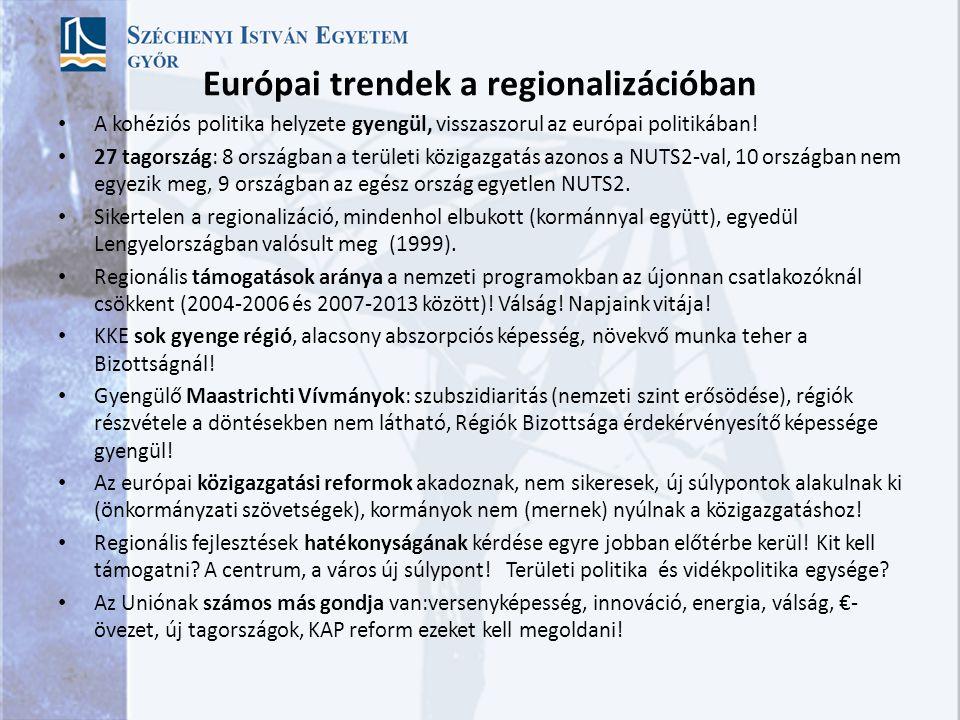 Európai trendek a regionalizációban