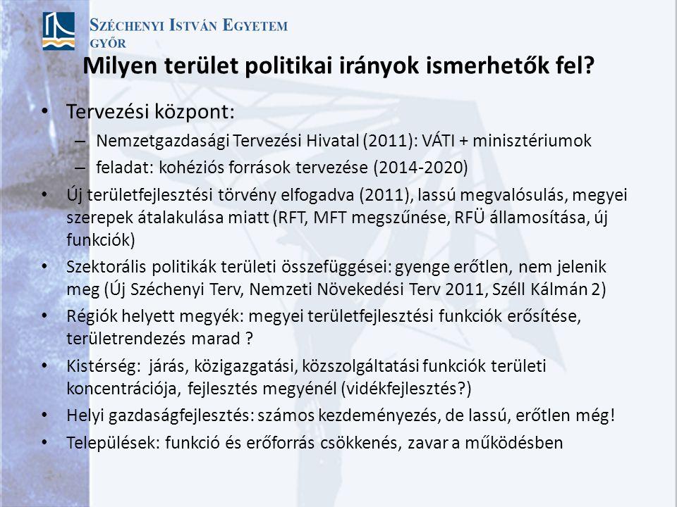 Milyen terület politikai irányok ismerhetők fel