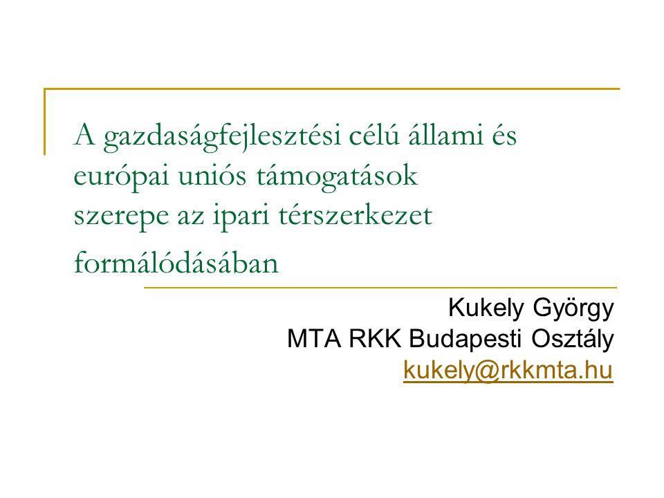 Kukely György MTA RKK Budapesti Osztály kukely@rkkmta.hu