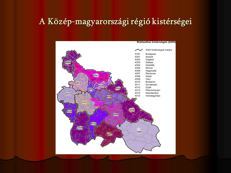 A Közép-magyarországi régió kistérségei