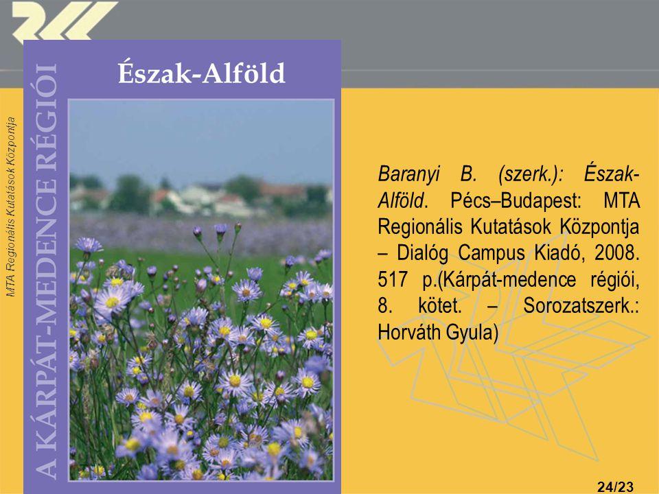 Baranyi B. (szerk. ): Észak-Alföld