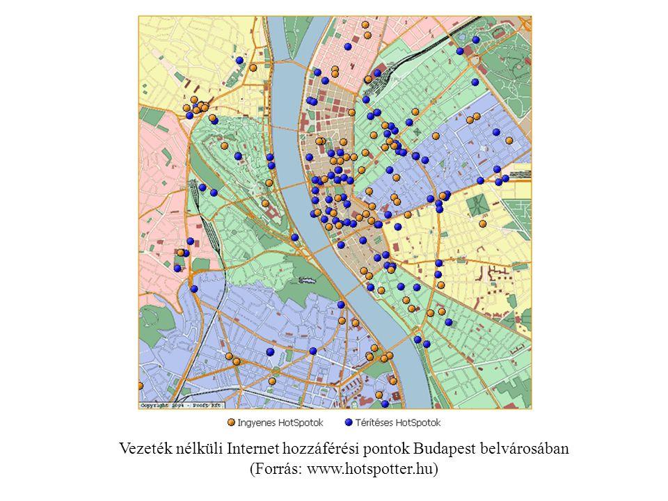 Vezeték nélküli Internet hozzáférési pontok Budapest belvárosában