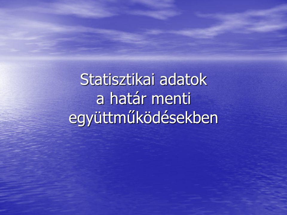 Statisztikai adatok a határ menti együttműködésekben