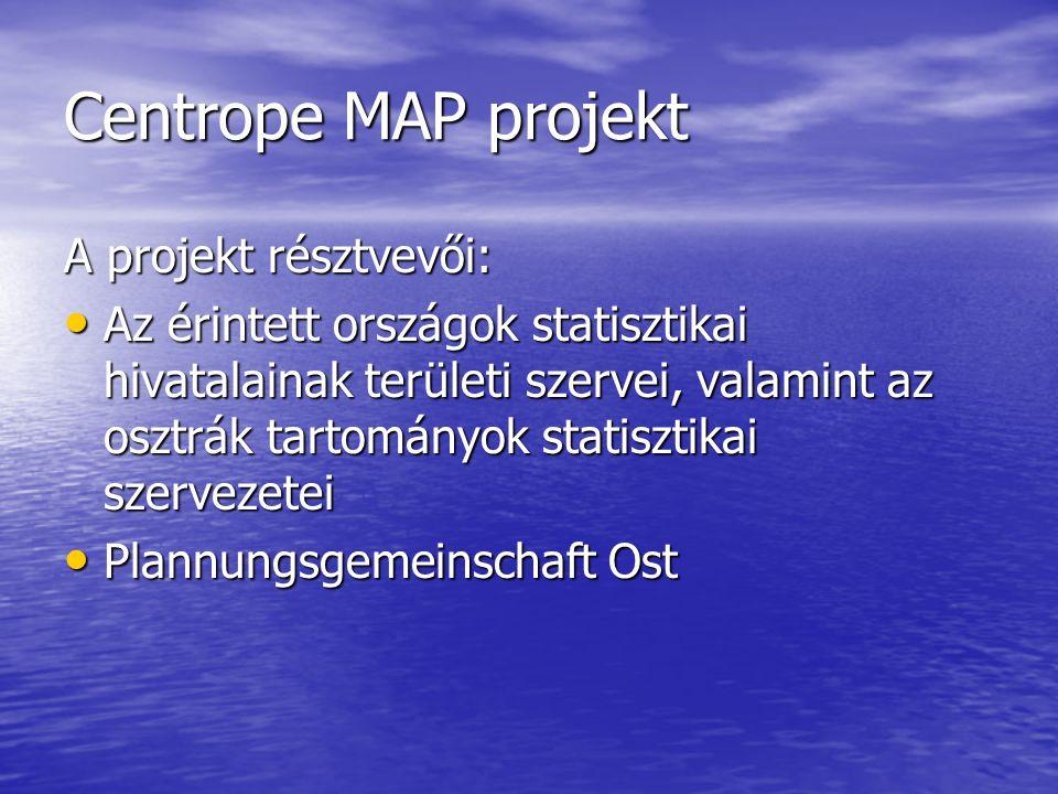 Centrope MAP projekt A projekt résztvevői: