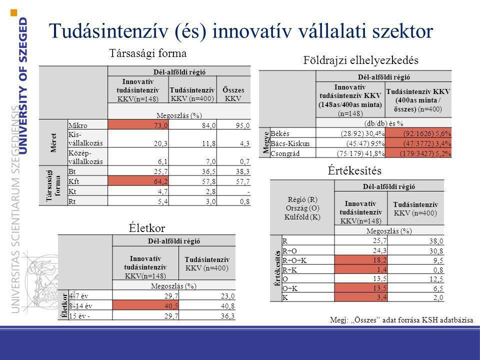 Tudásintenzív (és) innovatív vállalati szektor