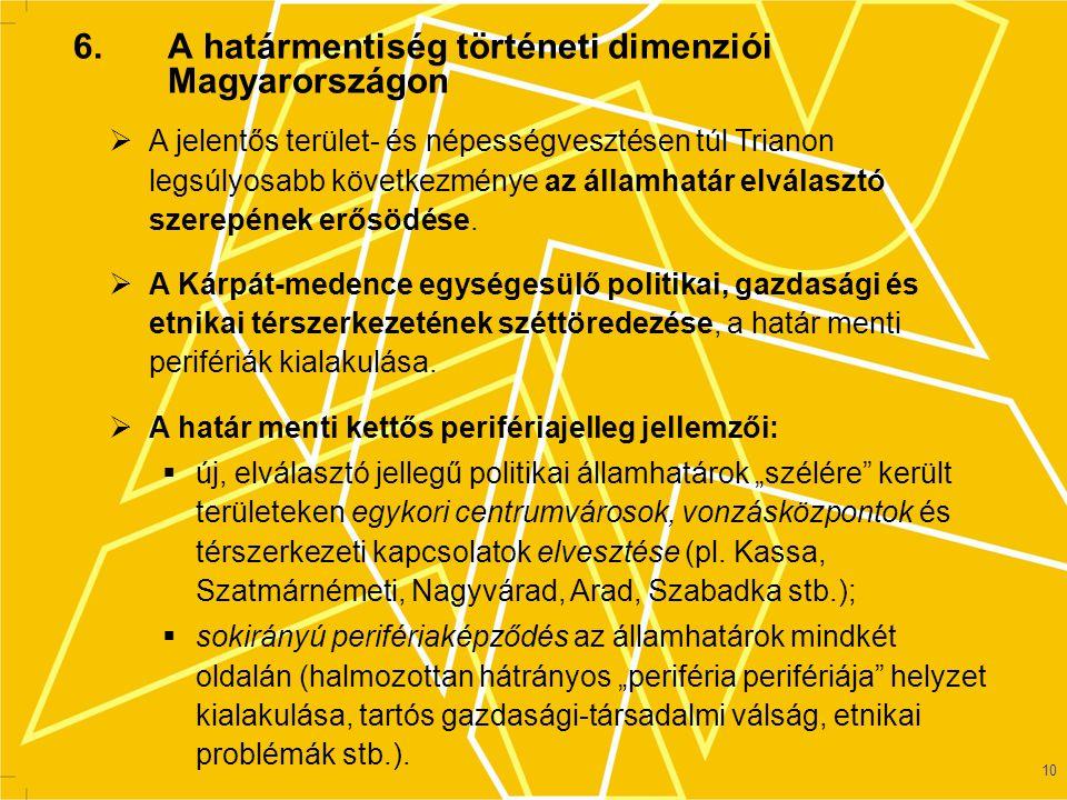 6. A határmentiség történeti dimenziói Magyarországon