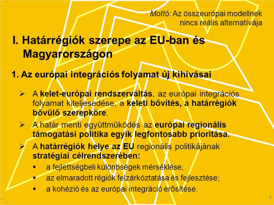 I. Határrégiók szerepe az EU-ban és Magyarországon