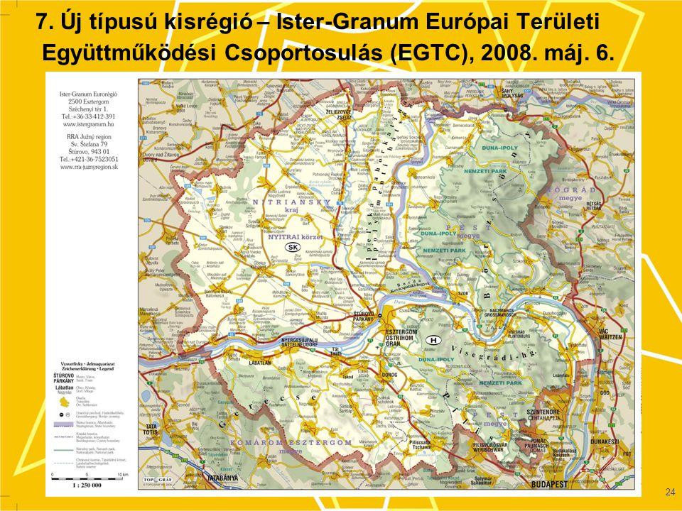 7. Új típusú kisrégió – Ister-Granum Európai Területi Együttműködési Csoportosulás (EGTC), 2008.