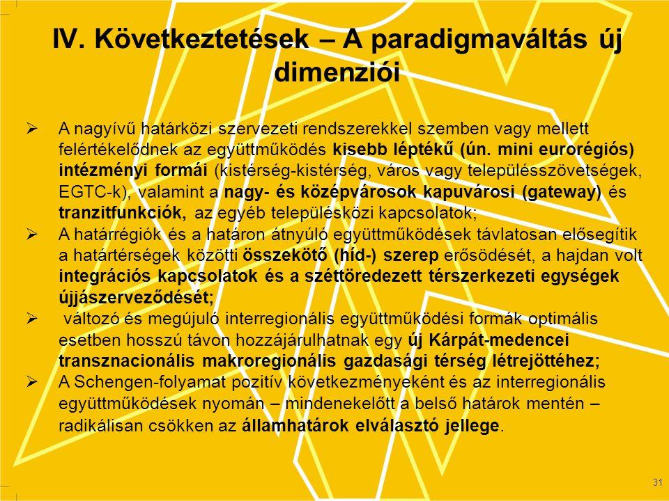 IV. Következtetések – A paradigmaváltás új dimenziói