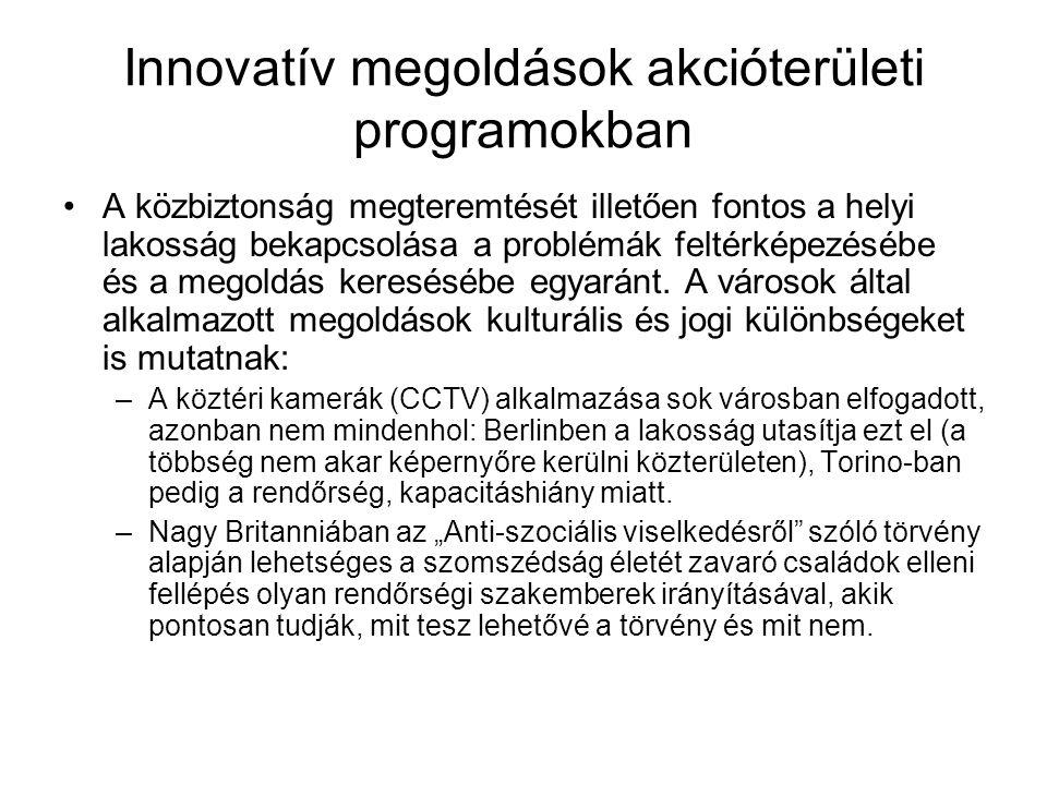 Innovatív megoldások akcióterületi programokban