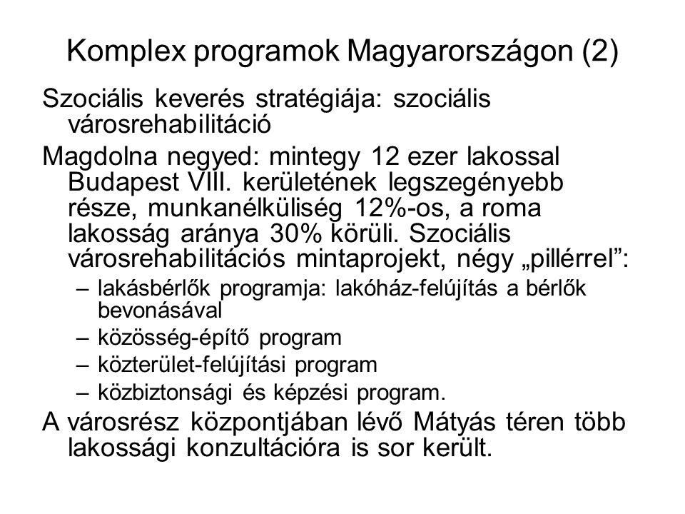 Komplex programok Magyarországon (2)