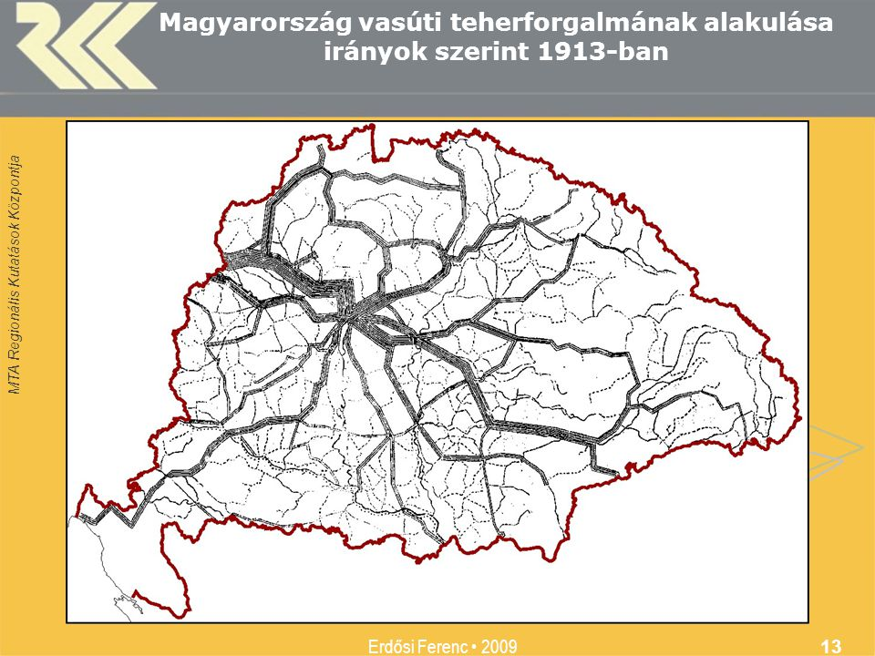 Magyarország vasúti teherforgalmának alakulása irányok szerint 1913-ban