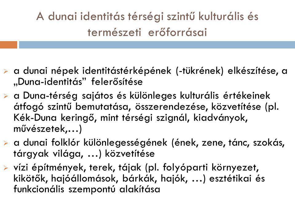A dunai identitás térségi szintű kulturális és természeti erőforrásai