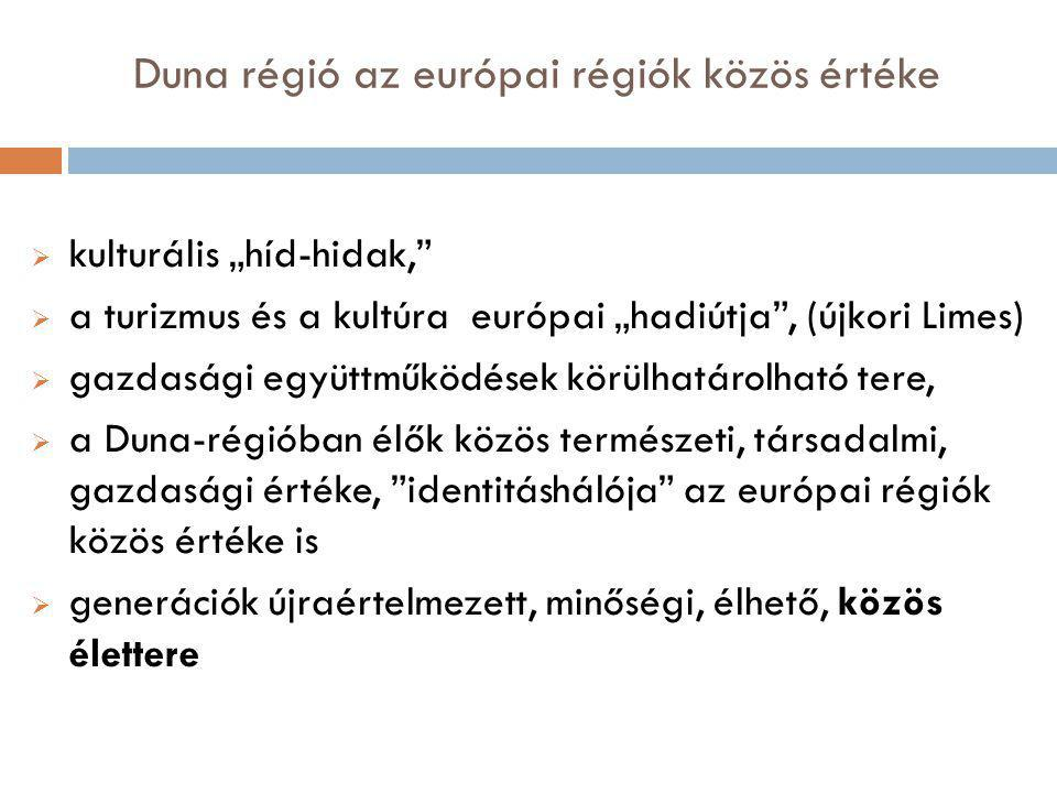 Duna régió az európai régiók közös értéke