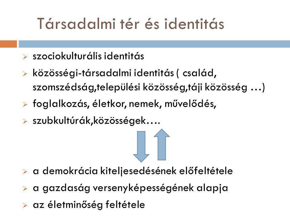 Társadalmi tér és identitás