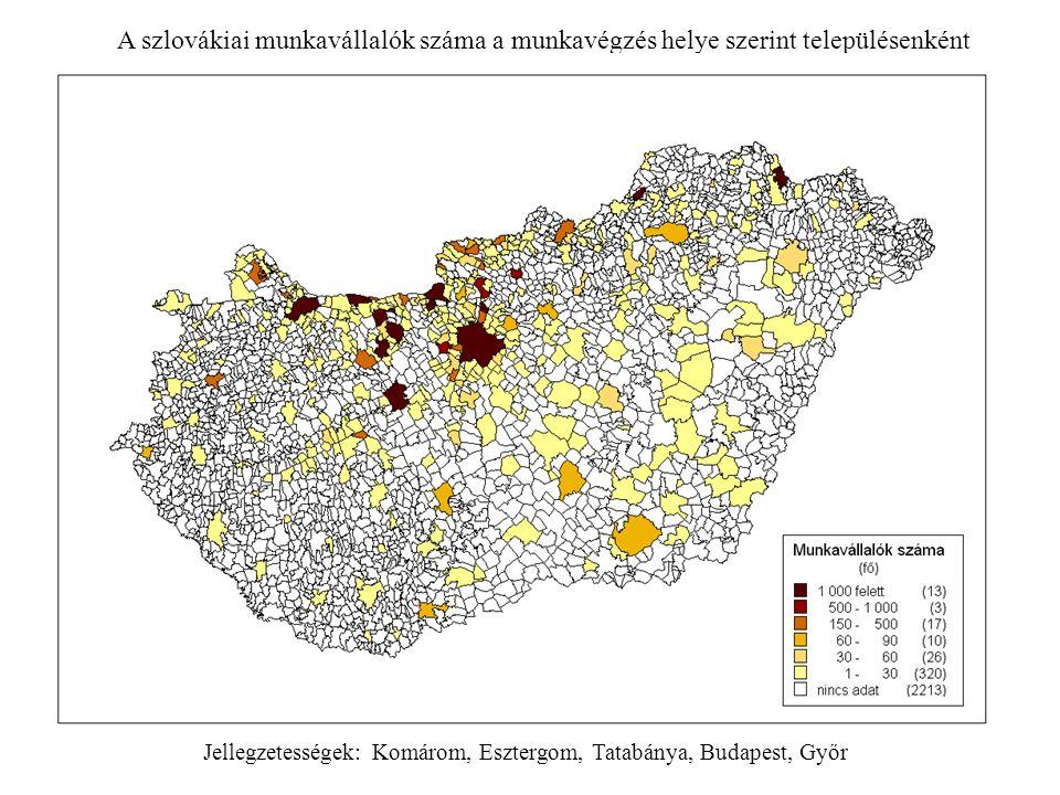 Jellegzetességek: Komárom, Esztergom, Tatabánya, Budapest, Győr