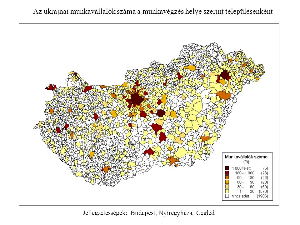 Jellegzetességek: Budapest, Nyíregyháza, Cegléd