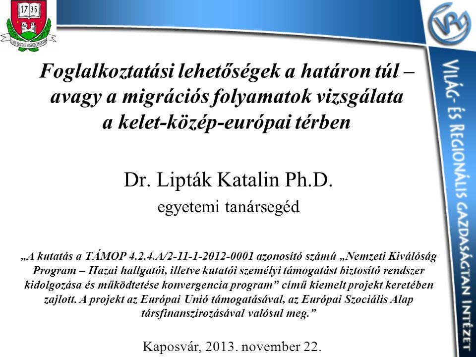 Dr. Lipták Katalin Ph.D. egyetemi tanársegéd