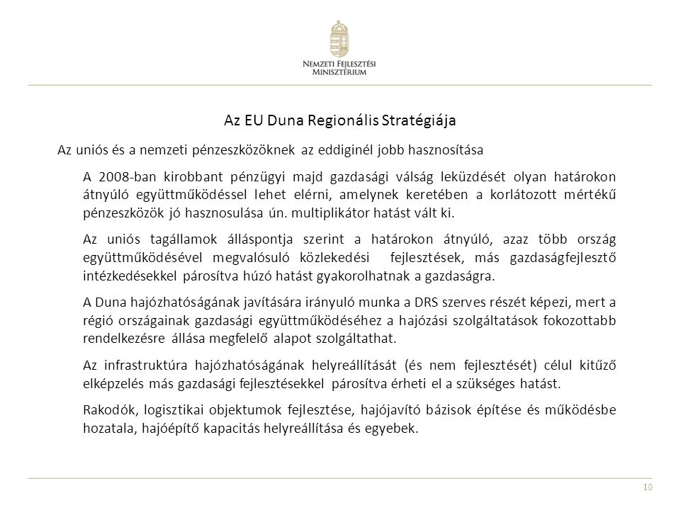 Az EU Duna Regionális Stratégiája